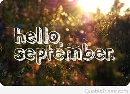 hello september photo quote with wish