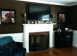 mounting a tv above a gas fireplace mounting over gas fireplace living room with above gas