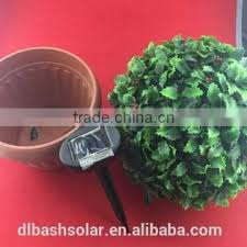 Red Rose Solar Powered Topiary Ball With 20 LED Solar Powered Artificial Topiary Trees With Solar Lights