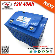 free lifepo4 12v 40ah lithium ion battery pack for electric bike scooter car ups power