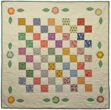 Pretty as a Posie Quilt Kit | 1930's Reproduction Quilt Fabric ... & Pretty as a Posie Quilt Kit This beginner's quilt starts with a basic four  patch block, and adds some simple applique on the border!Featuring  reproduction ... Adamdwight.com