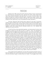 forrest gump film reaction paper