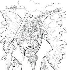 Moses Coloring Pages Running Downcom