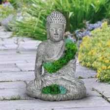 exhart solar succulent buddha statue