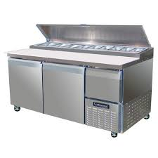 refrigerator table. continental refrigerator forced air pizza preparation table - 68\ l
