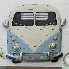 retro metal van front wall decor