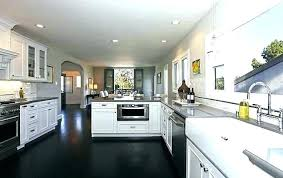 kitchens with white cabinets and dark floors. Dark Floor Kitchen Open Plan Soft White Cabinets Kitchens With And Floors