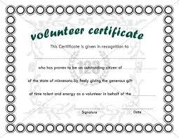 Volunteer Certificates Best Volunteer Certificate Templates Download Certificate Template