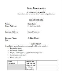 Sample Of Curriculum Vitae Amazing Curriculum Vitae Example Pdf Malawi Research