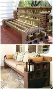 cinderblock furniture. Perfect Block Cinder Furniture Backyard Awesome Concrete Bench Seating How Intended E . Cinderblock M