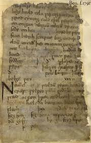 introduction to the old english poem called beowulf f 179r palimpsest