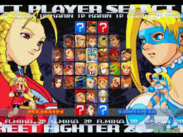 street fighter alpha 3 character select screen character select