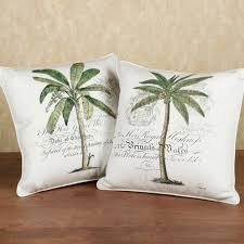 Decorative Pillow Set Unique Pillows Home Palm Tree Decorative Pillow Set Ivory Set Of