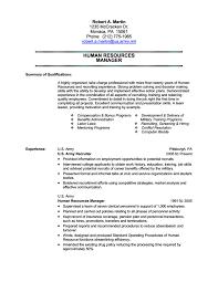 Ex Military Resume Samples
