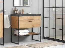industrial bathroom vanity unit with