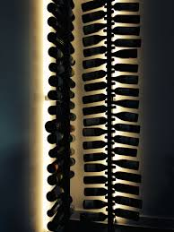 wine rack lighting. Solid Walnut Vertical Wine Racks, Bespoke Powder Coated Steet Brackets And LED Lighting. Rack Lighting