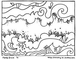 open and print this coloring page 6and said let there be a vault between the waters to separate water from water