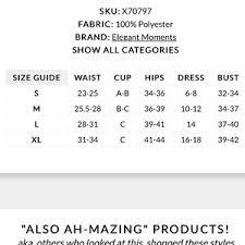 Yandy Size Chart Cinderella Halloween Costume Nwt