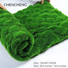 square mat size 100cm 100cm artificial plant turf grass green garden wall living room decoration