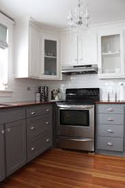 Redecorating Kitchen Two Tone Kitchen Cabinets Sizemore