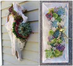1 creative garden decor ideas succulent wall decor