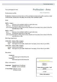 Official Resume Template Best Of Official Resume Template Cv Formats And Templates Resume Templates