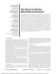 Fundamental Of Design And Manufacturing Books Pdf Pdf The Design For Additive Manufacturing Worksheet
