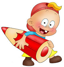 Little Boy With Pencil Cartoon Free Clipart Gallery
