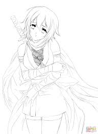 Coloring Pages Coloring Pages Hurt Anime Girl By Gabriela Gogonea