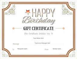Gift Certificates Templates Free Printable Certificate