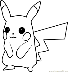 7 Pikachu Lineart Pikachu Pokemon For Free Download On Ayoqqorg