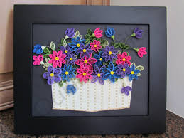 Paper Quilling Flower Baskets Quills4thrills Specializing In Handcrafted Quilling Cards And