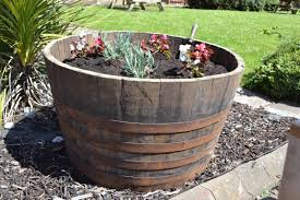 giant half barrel planter