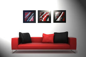 black red and silver wall art