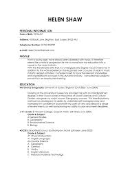Good Resume Layout Resume For Study
