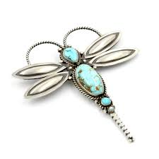 Faust Gallery Sterling Silver Dragonfly Pin by Herman Smith