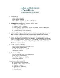 Cv Guidelines Milken Institute School Of Public Health