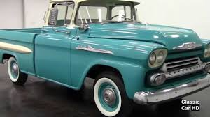 1958 Chevrolet Apache Fleetside Pickup - Classic Car HD - YouTube