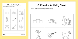 Free interactive exercises to practice online or download as pdf to print. G Phonics Colouring Worksheet Worksheet Teacher Made