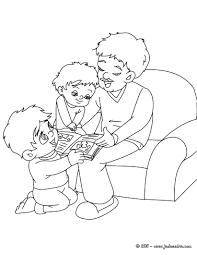 Coloriages Coloriage Papa Et Ses Enfants Gratuit Fr Hellokids Com