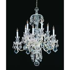 crystorama lighting group traditional crystal swarovski spectra crystal polished chrome two tiered ten light chandelier