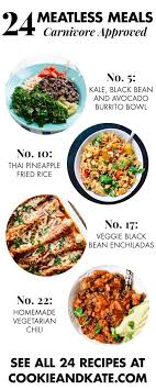 Some pasta recipes are naturally vegan to begin with ― think pasta pomodoro or pasta primavera, without the addition of cheese. 24 Meatless Recipes That Carnivores Will Love Cookie And Kate