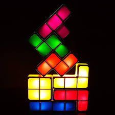 Buy Tetris Light Tetris Stackable Night Light Aveki Led 7 Colors Induction Interlocking Desk Lamp 3d Diy Magic Blocks Puzzles Toy For Kids Teens Bedroom Home Decor