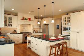 thumb kitchen craftsman style painted recessed panel flush mount glass grid doors wood hood butcher block