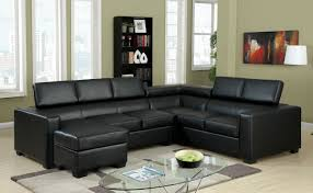 black sectional sofas. Interesting Sofas Modern Black Sectional Sofa With Adjustable Headrests Inside Sofas