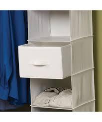 home canvas storage drawer 2 pack for hanging 6 shelf canvas closet organizer
