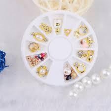 Kov Zlato Nehty Umění šperky Výzdoba Nástroje Luk Perlový Kamínky Okrouhlý Talíř 12 Verzí Zlato