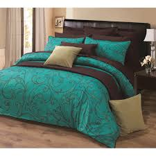 Teal And Brown Bedroom Bright Colored Bedding