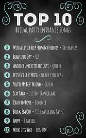 Join the worldwide family of creators using epidemic sound & start your free trial today. Top 10 Bridal Party Entrance Songs