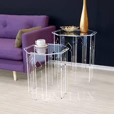 Impressive Plexiglass Furniture Pieceslot Lucite Occasional Side Riser Tableplexiglass Small Coffee To Beautiful Design
